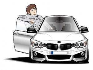 BMWで出かける社長
